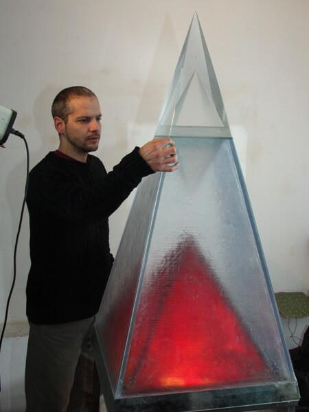 Large Glass Pyramid