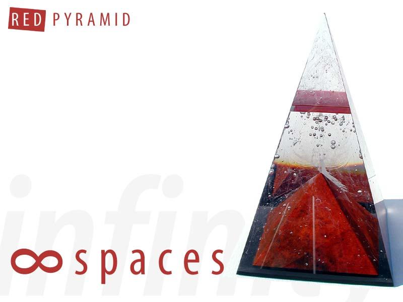 Red Sculpture: Glass Art