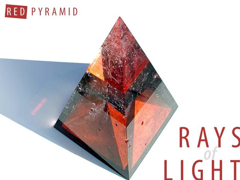 Sculpture: Glass Pyramid
